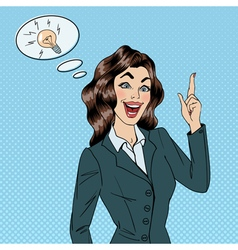Business woman great idea woman at work success vector