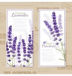 Lavender flower vertical banners vector