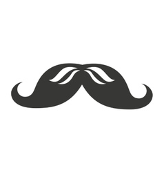 Mustache isolated icon design vector