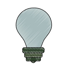 bulb light energy vector image vector image