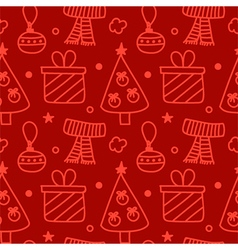 Christmas new year seamless pattern background vector