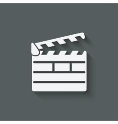 clapper board design element vector image