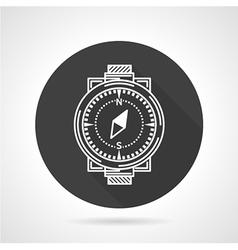 Compass black round icon vector