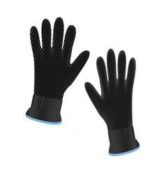 Diving gloves vector