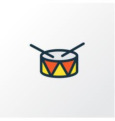 Drum colorful outline symbol premium quality vector