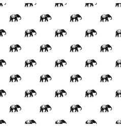Elephant pattern simple style vector