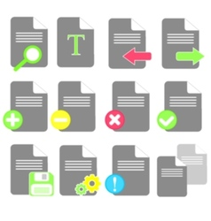 file icons vector image