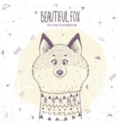 Fox cute vector image vector image