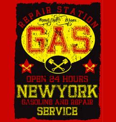 garage repair service print for t shirt in custom vector image vector image
