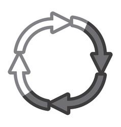 Grayscale silhouette of arrows circular shape vector