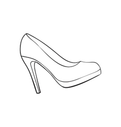 High heeled glittering elegant white wedding vector