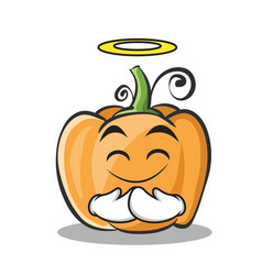 Innocent pumpkin character cartoon style vector