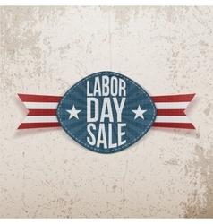 Labor Day Sale realistic festive Tag vector image