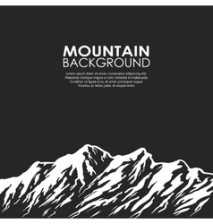 Mountain range isolated on black background vector image vector image