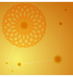 Orange juice background Round flower ornament vector image