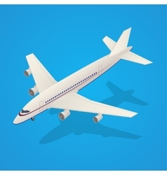 Passenger Airplane Fly Isometric Transportation vector image
