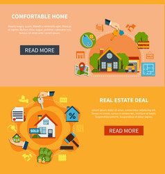 real estate banners set vector image vector image