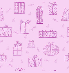 seamless pattern with present boxes vector image