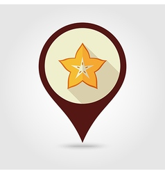 Starfruit carambola carom pin map icon fruit vector