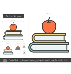 Text books line icon vector image vector image