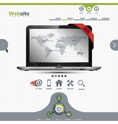 Website template for business presentation vector