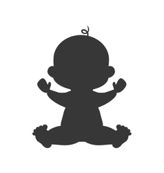 Boy baby cute little childhood icon vector