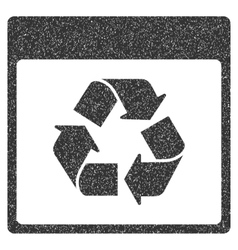 Recycle calendar page grainy texture icon vector