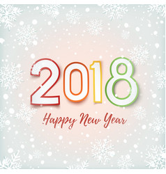 Happy new year 2018 abstract design vector