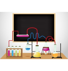 Chemical laboratory background vector