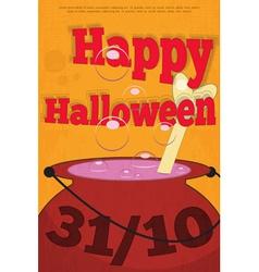 Halloween pot vector