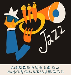 Jazz concert music background flat vector