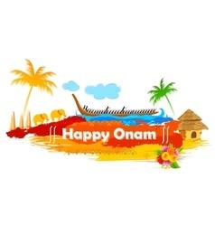 Boat Race of Kerla on Onam vector image