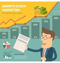 Price movement profit graph for diagram vector
