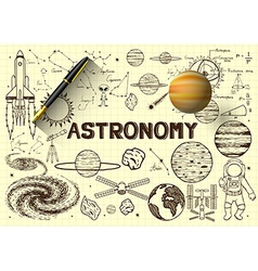 Astronomy sketch vector