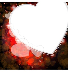 Romantic valentines day card vector