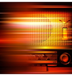 Abstract red blur music background with retro vector