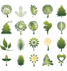 nature icons vector image
