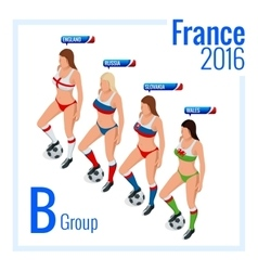 European football championship in france group b vector