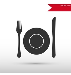 Dish fork and knife vector