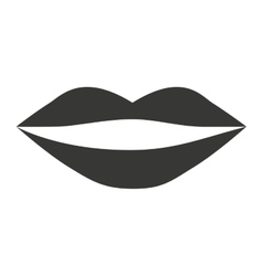 Female lips isolated icon design vector