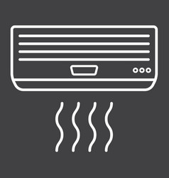 Air conditioner line icon electric and appliance vector