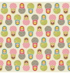 babushka pattern vector image vector image