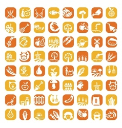 Big color farm icon set vector