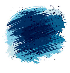 Blue splashes and spots vector