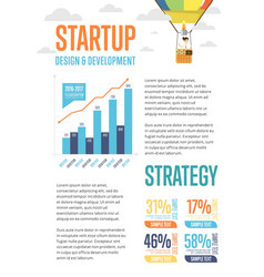 business infographics banner with businessmen vector image