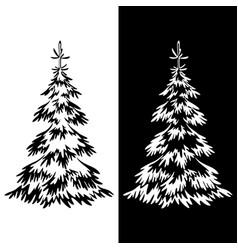 Christmas fir tree pictograms vector