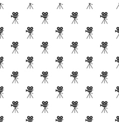Cinema camera pattern simple style vector