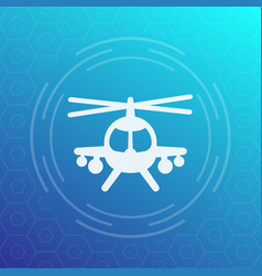 Combat helicopter icon pictogram vector