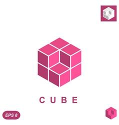 Cube isometric logo concept vector