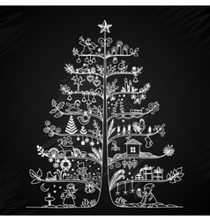 Cute of a Christmas tree in vector image